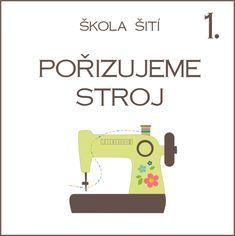 Škola šití – Caramilla.cz Janome, Easy Knitting, Shibori, Diy And Crafts, Singer, Sewing, Fabric, Handmade, Felt