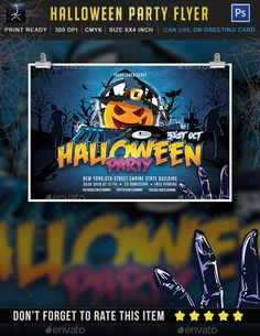 Halloween Party Flyer Tempalte #design Download: http://graphicriver.net/item/halloween-party/12850668?ref=ksioks