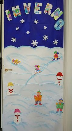 2 In, Decoupage, Crafts For Kids, Preschool, Porte Decorate, Decoration, Kids Rugs, Logos, Winter