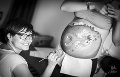 Belly Painting by Laura Tevar. Picture by Julia Díaz