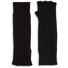 Saks Fifth Avenue Collection Knitted Cashmere Gloves (310 HRK) ❤ liked on Polyvore featuring accessories and gloves