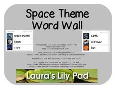 This is a set of word wall words for your pocket chart, wall, writing center, stamping center, or wherever else you would like to use them.  There are 24 words in this set, including all of the planets, as well as the word planets, space shuttle, space station, telescope, observatory, asteroid, blast off, radio telescope, space capsule, satellite, Moon, stars, astronaut.The font is from KindergartenWorks and the photos come from pixabay.com and/or freerangestock.com.If there are other words…