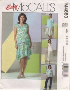4880 Sewing Pattern McCall's Maternity Top Skirt Pants 6 8 10 12