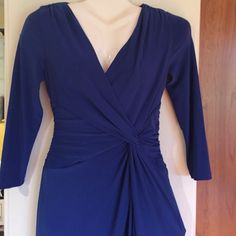 """✨RALPH LAUREN✨Beautiful cobalt blue dress. New. Dress is 40"""" from the top of the shoulder to the bottom. Beautiful cobalt blue color. Size 2. Waist gatherings are very slimming Ralph Lauren Dresses Midi"""