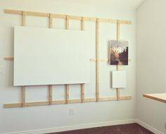 New studio is up and running. I'm particularly proud of this wall easel I…