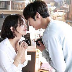 Shin min ah and lee jae hoon for canon advertising - tomorrow with you korean drama 2017