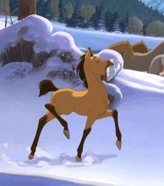 Spirit Horse Movie, Spirit The Horse, Spirit And Rain, Spirit Film, Spirit Animal, Art Drawings For Kids, Horse Drawings, Disney Drawings, Cartoon Drawings