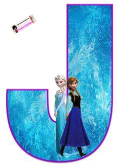 Frozen: Free Elsa and Ana Alphabet. Frozen: Bello Alfabeto Gratis de Elsa y Ana. Disney Frozen Party, Frozen Birthday Party, Frozen 1, Sofia The First Birthday Party, Frozen Summer, Frozen Theme, Birthday Party Themes, Diy Crafts For 5 Year Olds, Cumple De Frozen Ideas