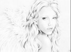 Great angel drawing.