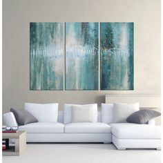 <li>Artist: Unknown</li><li>Title: Abstract 625</li><li>Product type: Hand painted oil gallery wrapped canvas art set</li>