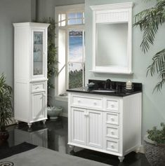 """Sagehill Designs Wide Framed Vanity Mirror from the Cottage Collection (with 36"""" Vanity)"""