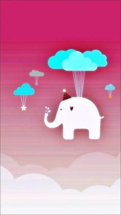 Cute Elephant iPhone 6 Wallpaper