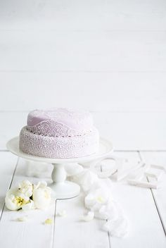 Свадебный торт в винтажном стиле. Кружевной торт. Lace Wedding Cake
