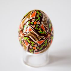 Ukrainian Easter Egg - Spring Fever (with clear stand included, not shown). $21.50, via Etsy.