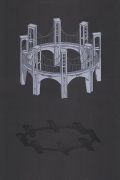 Screenprint poster of a floating infinite by StrangeAnatomies, $40.00