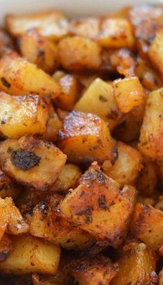 """""""My Favorite Roasted Potatoes"""": Crispy on the outside & creamy inside. Easy to throw together & bake."""