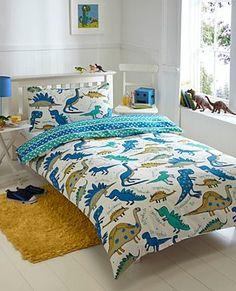 my sons room will be done in dinosaurs. and he will like it. end of story.