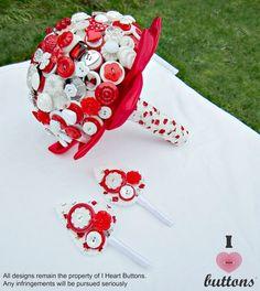Bello botón de rosa rojo a medida alternativa Bouquet