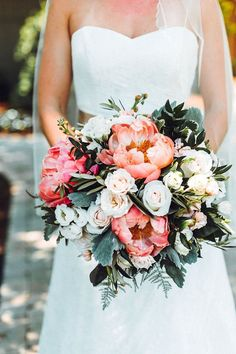 summer wedding hair Inspiring Wedding Bouquets Ideas For This Spring And Summer - Summer weddings take place from the months of June to August. The key benefits of having a wedding in the summer is that both you and your guests can . Spring Wedding Bouquets, Peony Bouquet Wedding, Wedding Flower Arrangements, Floral Wedding, Wedding Colors, Summer Wedding Flowers, Spring Bouquet, Peonies Bouquet, Bridal Bouquets