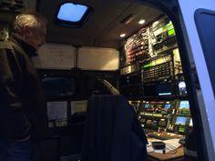 Inside the van, where it all happens.