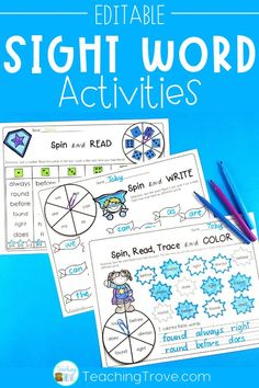 Sight word packs that are editable means that you can use your own sight word lists. Every superhero themed worksheet or game allows you to add any length word and use only the words that your school requires you to cover. It's easy to create hands on teaching resources that help even your struggling readers to learn their sight words. These fun printables are perfect for small groups and centers. #sightwords #sightwordactivities