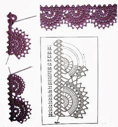 Uncinetto e crochet: Raccolta bordi all'uncinetto crochet per biancheria