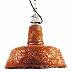 Shabby Chic-Fabriklampe mit echter Rost-Patina von Bolich