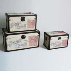 Screen Gems Furniture Traveler Decorative Trunks - Set of 3 - SGT03