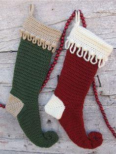 Crochet Christmas stocking free pattern ✿⊱╮Teresa Restegui http ...