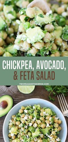 Super easy chickpea feta salad recipe done in only five minutes! This easy recipe has chickpea avocado feta cheese and lime juice mixed in a bowl. Perfect for a quick snack lunch or dinner! Save this recipe for later! Chickpea Feta Salad, Feta Salat, Chickpea Salad Recipes, Healthy Salad Recipes, Vegetarian Recipes, Cooking Recipes, Feta Cheese Recipes, Cheese Salad, Sin Gluten