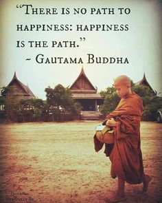 Happiness is the path !!! #namo #buddhaquotes #buddha #calm #peaceofmind #peace #breath #buddhism #bliss #hapiness