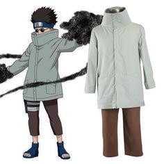 Naruto Aburame Shino 1ST Cosplay Costumes