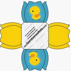 Patito de Goma: Cajas para Imprimir Gratis.