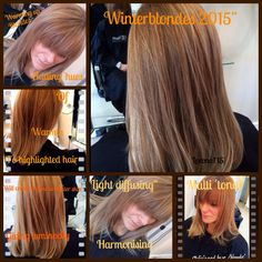 #hair# winter#2015 warm hue of colour to vinyl tone highlights warmth and harmony is created , giving skin a glow in the winter months leading to spring , when highlighted are wanted sun kissed and brighter , leeono14hair™