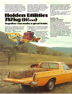 Holden HX Ute Brochure Page 2 Big Girl Toys, Girls Toys, Holden Kingswood, Holden Australia, Australian Cars, Sports Sedan, General Motors, Cool Trucks, Old Cars