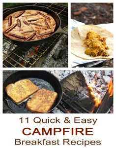 11 quick, simple and easy #campfire #breakfast #recipes! #camping