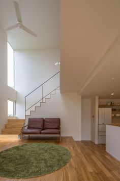 Vaulted ceiling over the stairs between the first and second floor look great! Interior Architecture, Interior And Exterior, Design Your Own Home, Modern Architects, Minimal Home, Lounge Design, Loft, Interior Decorating, Interior Design