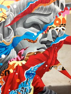 A selection of paintings and street art creations of American artist and designer Tristan Eaton, based in Los Angeles, who offers us some explosive and colorful