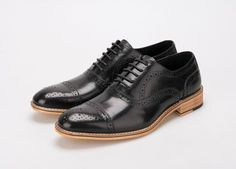Men's Oxfords British Style Genuine Leather Shoes