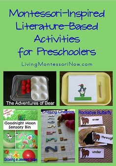 Montessori Monday - Montessori-Inspired Literature-Based Activities for Preschoolers