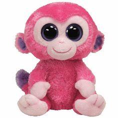 TY Beanie Boos - RAZBERRY the Pink Monkey ( Beanie Baby Size - 6 inch )