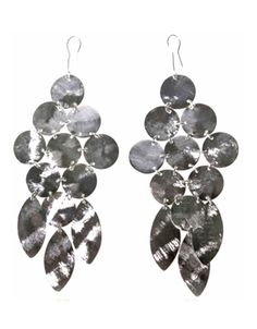 Chandelier Earrings Silver Seen on Emily Dees Boulden