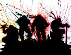 TMNT  Watercolor Group Fine Art Print 4k Wallpaper For Mobile, Tmnt Wallpaper, Ninja Turtle Bedroom, Art Folder, Tmnt 2012, Crayon Art, Universe Art, Drip Painting, Do It Yourself Home