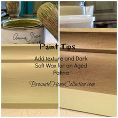 Adding texture and then Soft Dark Wax to Versailles Chalk Paint®. See my video on FB, www.facebook.com/Brocanteurs