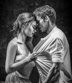 Passionate embrace:Lily James, 26, and Richard Madden, 29, have reunited to appear in the stage adaptation of Romeo and Juliet, and it seems like it's going to be a rather steamy affair