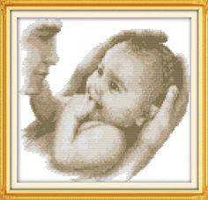 схема вышивки метрика для новорожденного