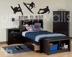 Vinyl Wall Sticker Decal Art Born To Ride by urbanwalls on Etsy, $49.00