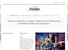 Femme - is compatible with WooCommerce for e-shopping
