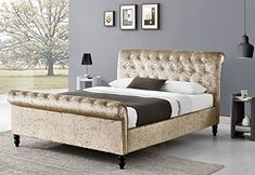 Cherry Tree Furniture Capella Chesterfield Diamante Champagne Crushed Velvet Double Sleigh Bed 4FT DOUBLE No description (Barcode EAN = 5060388813321). http://www.comparestoreprices.co.uk/december-2016-6/cherry-tree-furniture-capella-chesterfield-diamante-champagne-crushed-velvet-double-sleigh-bed-4ft-double.asp