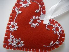 red felt heart | by sew ritzy~titzy